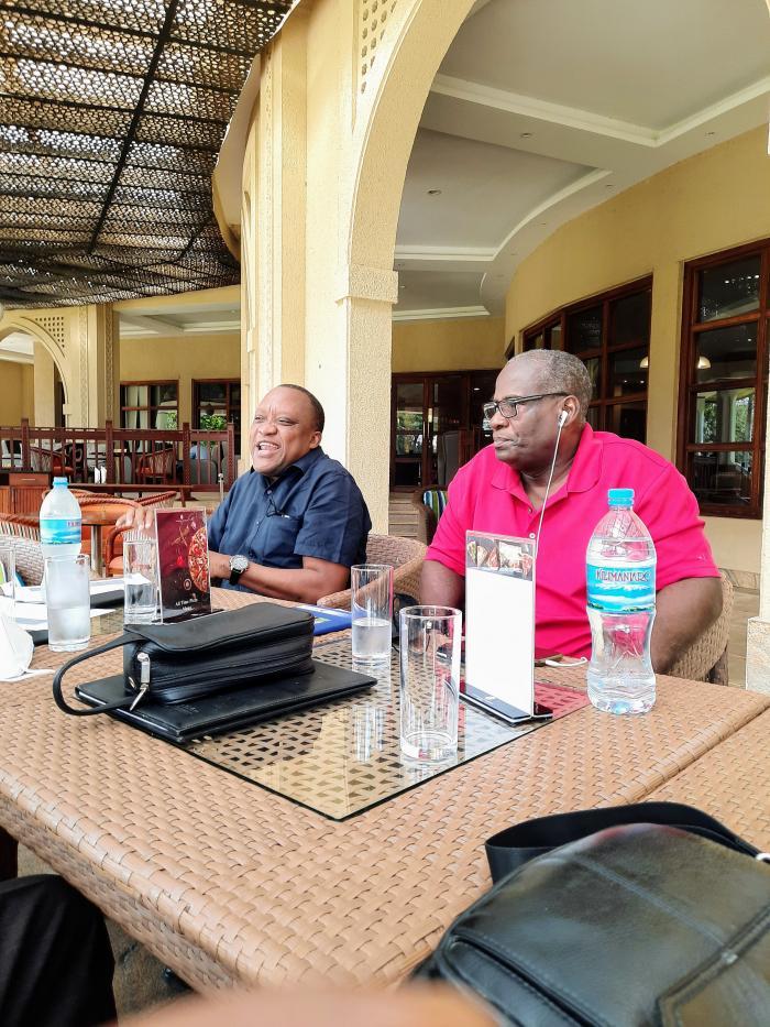 Mr Victor Gogadi na Mweka hazina Mashaka Job.